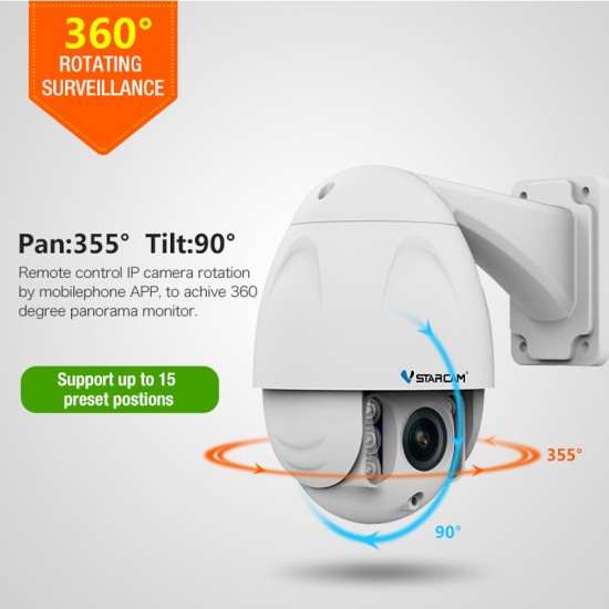 C34S-X4 PTZ 1080P FHD 4X Zoom IP Camera