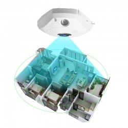 [ Free Cloud Service ]  C61S WIFI  360° Panoramic monitoring IP Camera