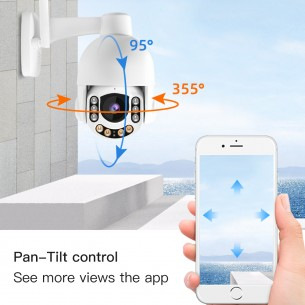 CS65  AI PTZ WIFI Outdoor Camera with wide view angle