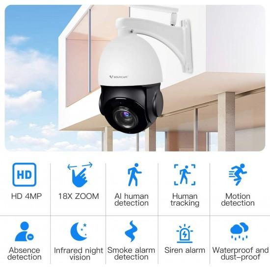 CS66Q-X18 18X Zoom 4MP PTZ WIFI Outdoor Camera