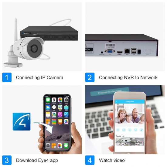 NVR N8209 & 4PCS C17S 1080P Camera NVR Kits