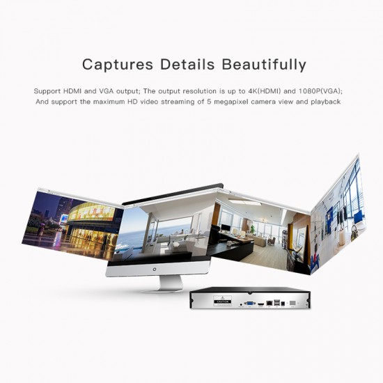 N8236 36CH NVR Audio output HD Video Recorder