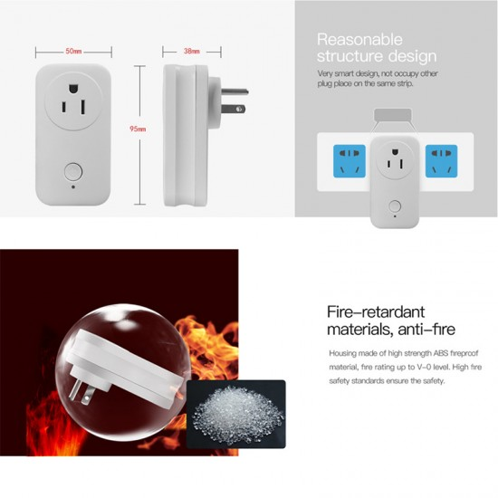 WS2 Smart Plug Outlet Wifi  combine with smart home system